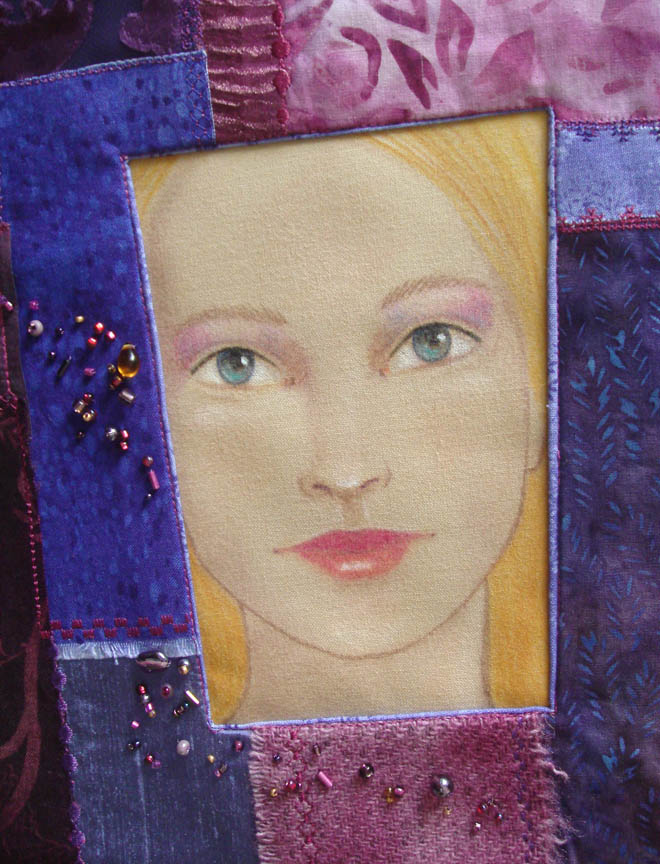 Framed Face Purple detail
