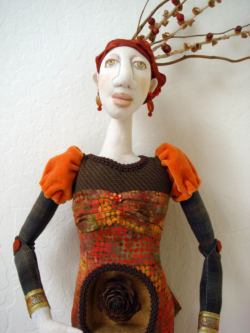 Akira Blount workshop doll torso and head