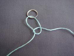 Macrame loop hanger step 3