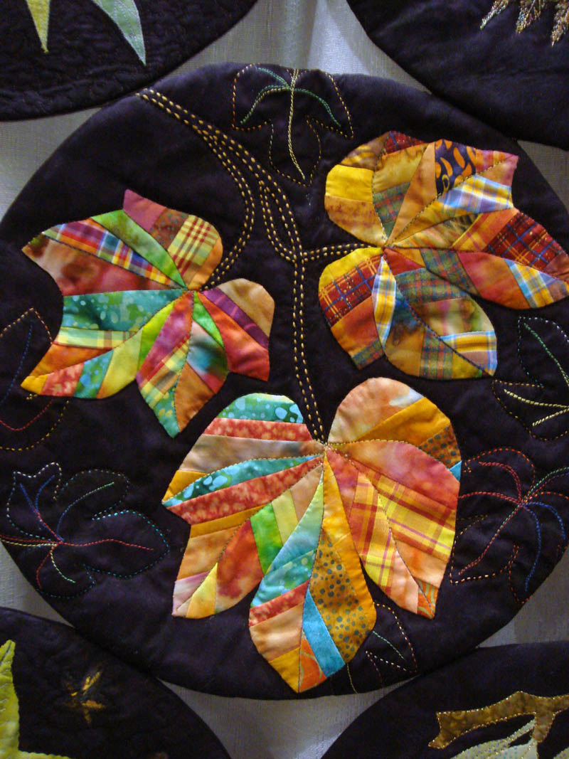 Detail of The Artful Leaf by Sandee Harvey and Out of the Box