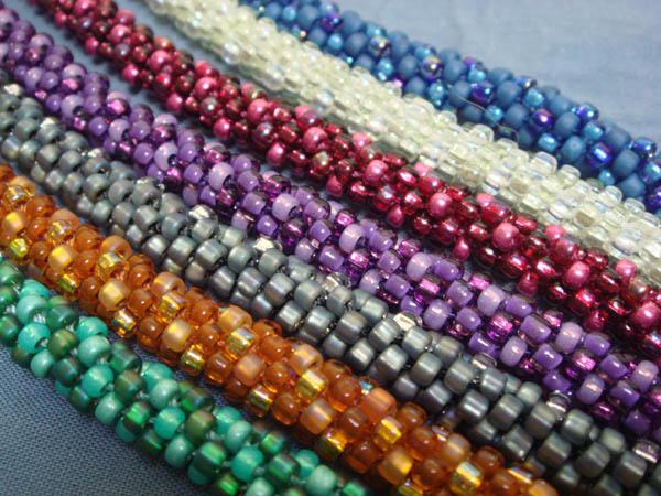 Beaded Kumihimo bracelets