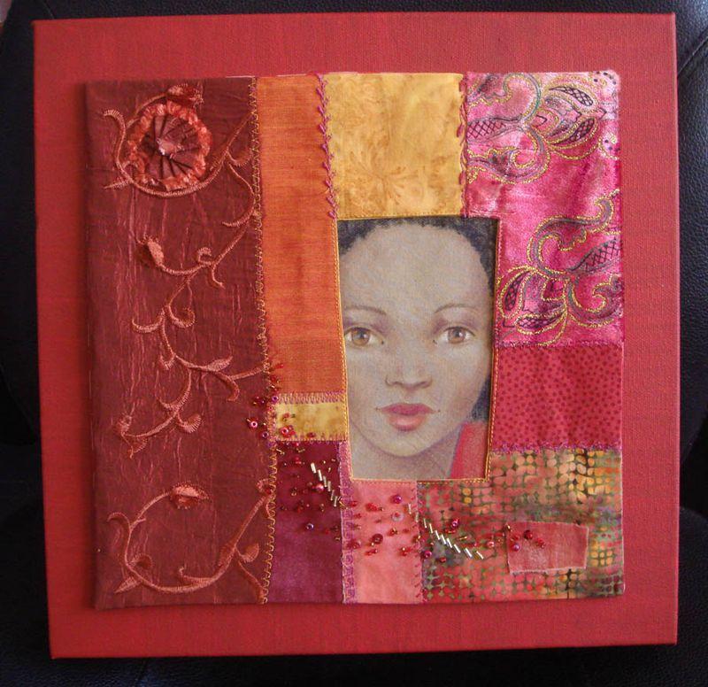 Orange framed face canvas