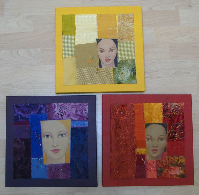 Three Framed Faces