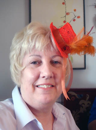 Laurie with Fascinator Hat