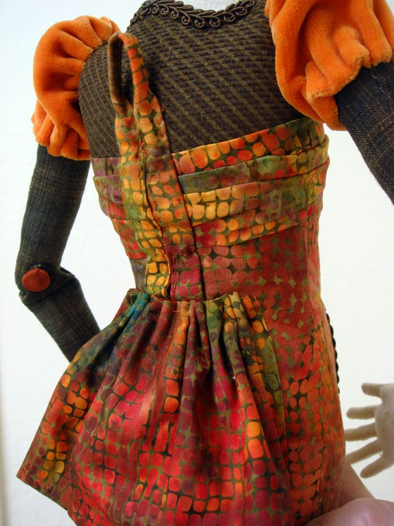 Akira Blount workshop doll back detail