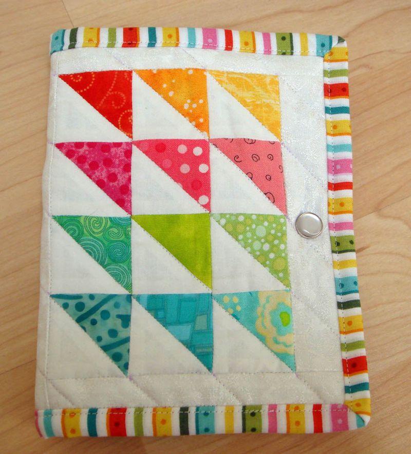 Rainbow needle book front