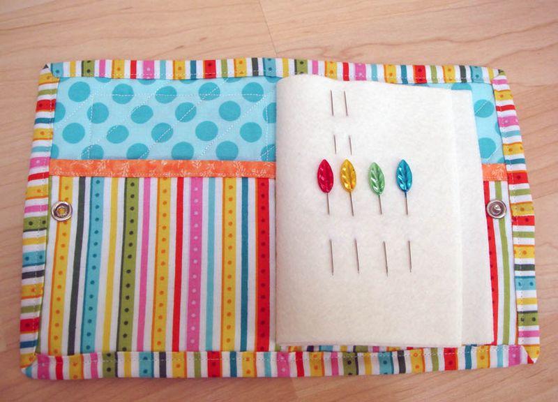 Rainbow needle book open