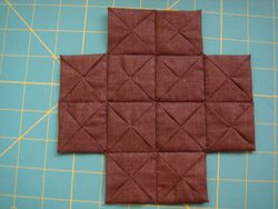 Brown blocks sewn together
