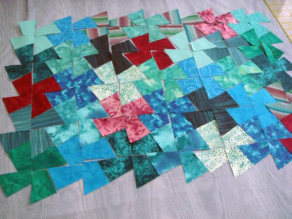 Ready to sew pinwheels