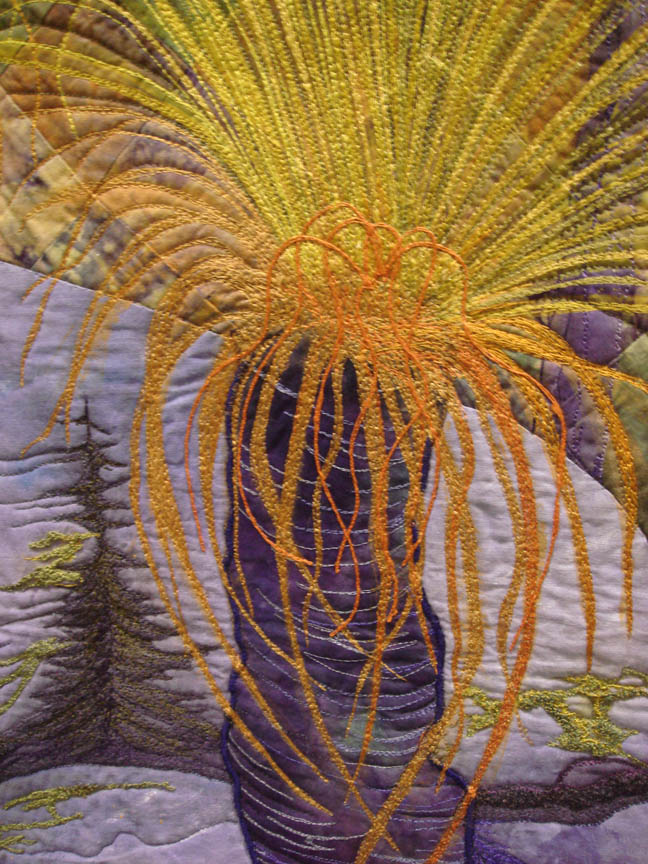 Detail of Grass Trees by Gloria Loughman