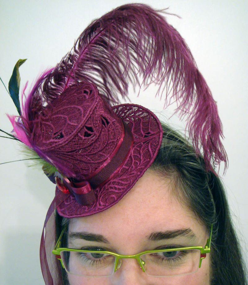 Me in my fascinator hat