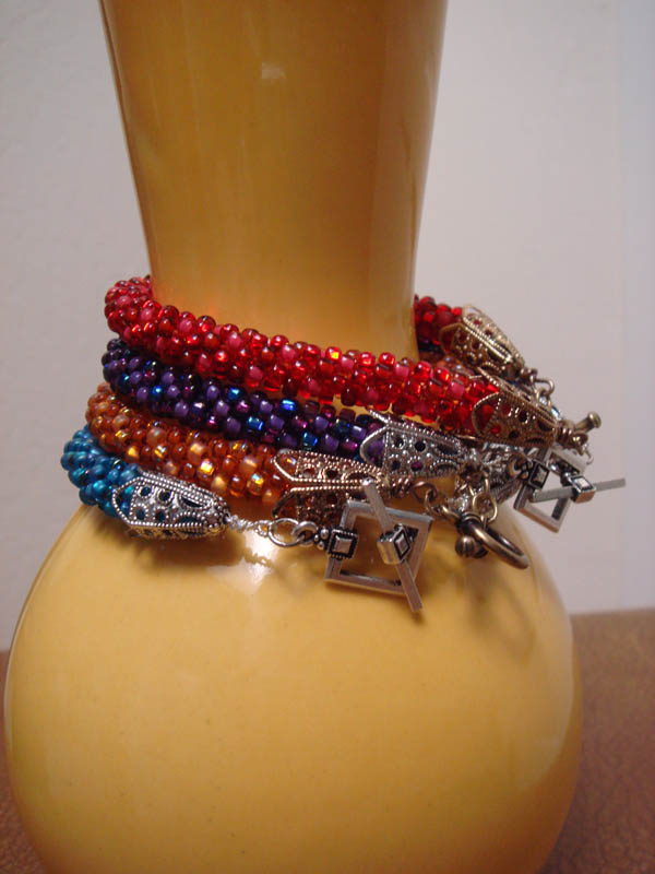 Kumihimo Bracelets with toggle clasps