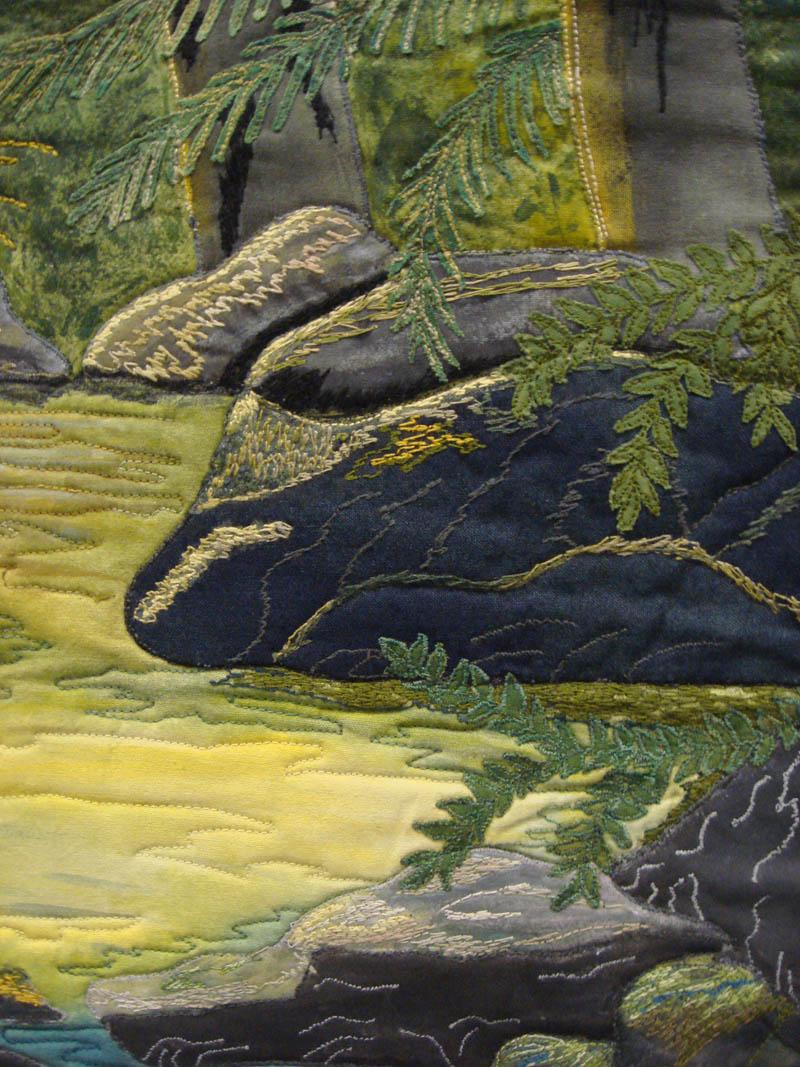 Detail of Rainforest Hues of Hope by Ann Gillidette
