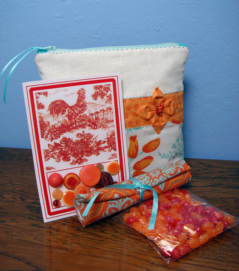 Pretty Little Pouch swap pouch with goodies