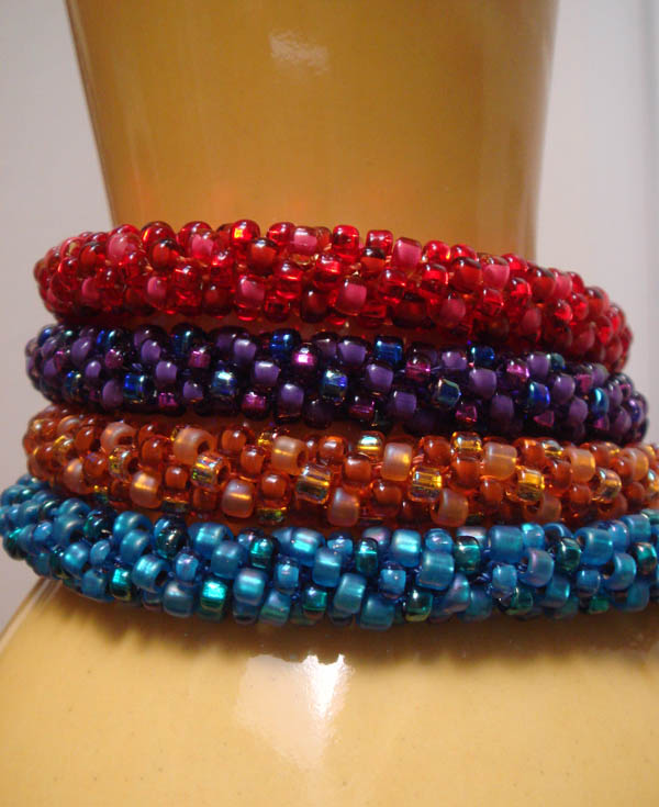 Beaded Kumihimo Bracelets all done