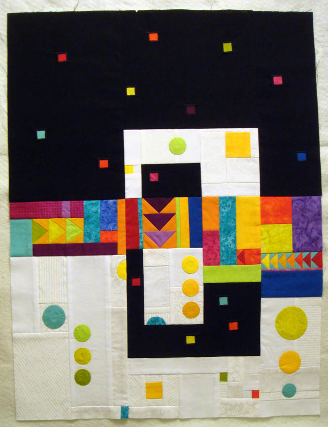 Ready to quilt abstract quilt