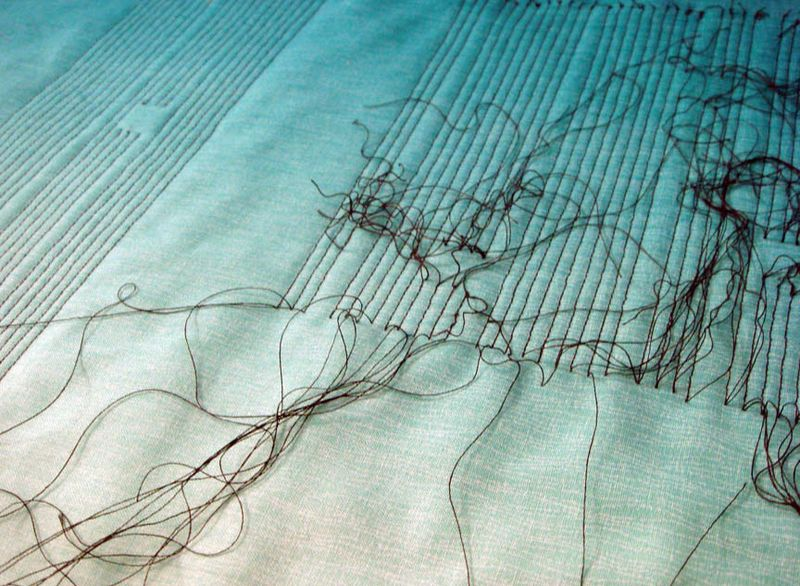 Knotting quilting threads
