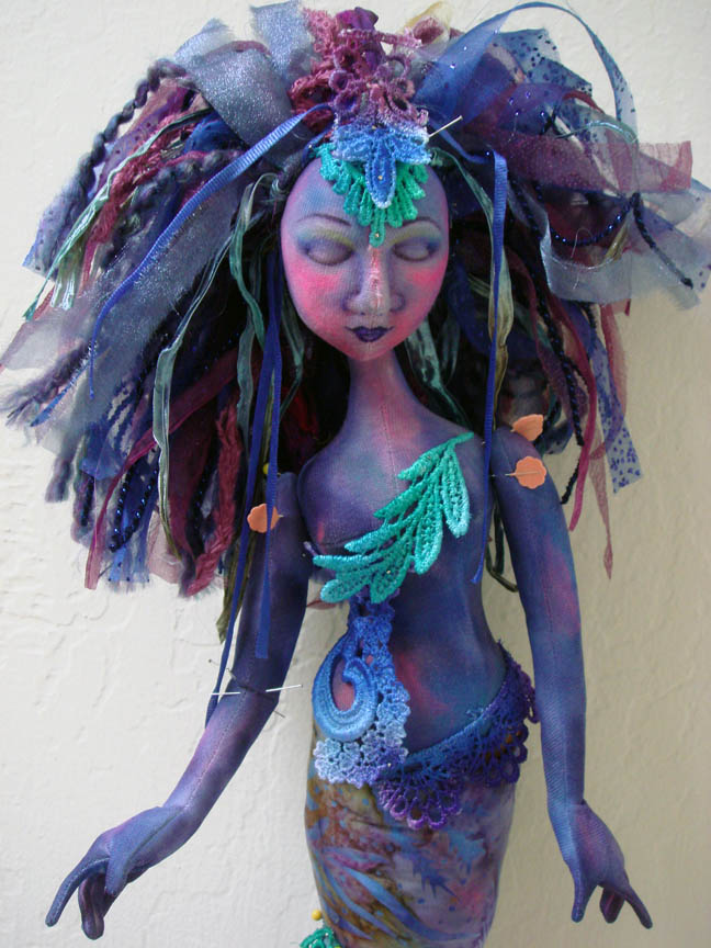 Mermaid in progress closeup