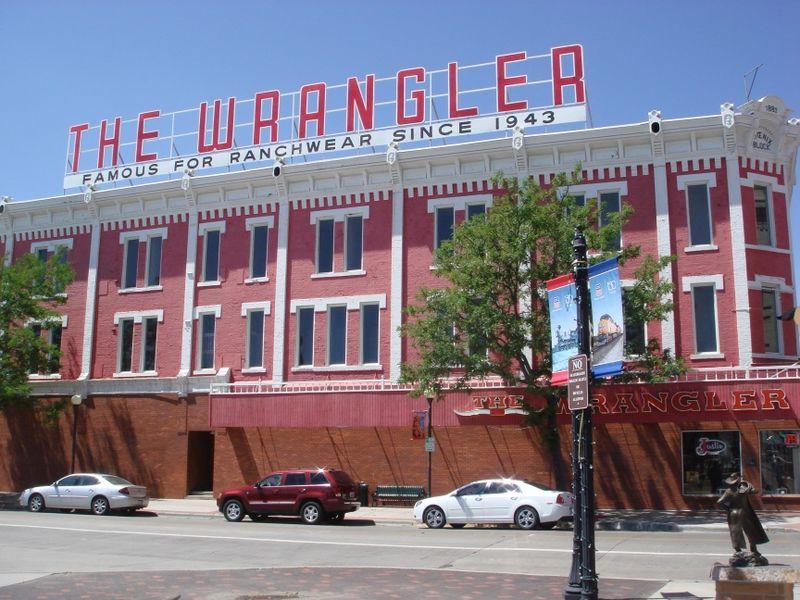The Wrangler Bldg in Cheyenne WY