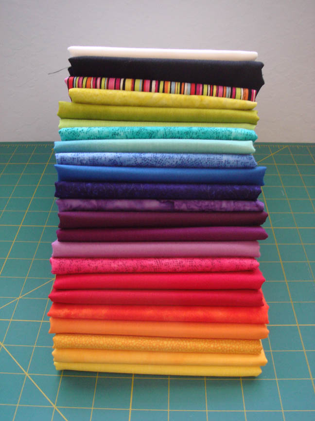 Fab Little Quilt Swap fabrics