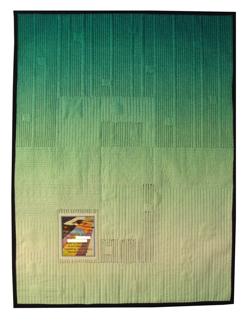 Fab Little Quilt Swap Abstract Quilt back