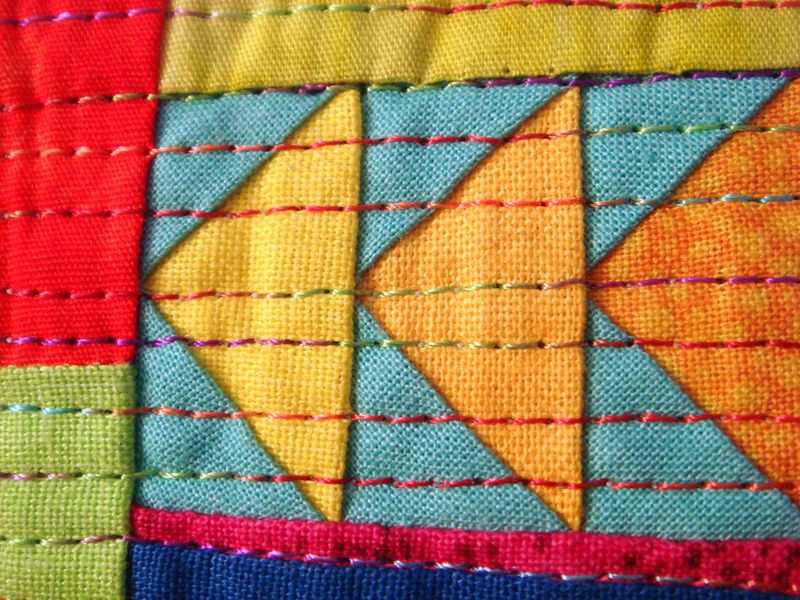 Abstract quilt detail