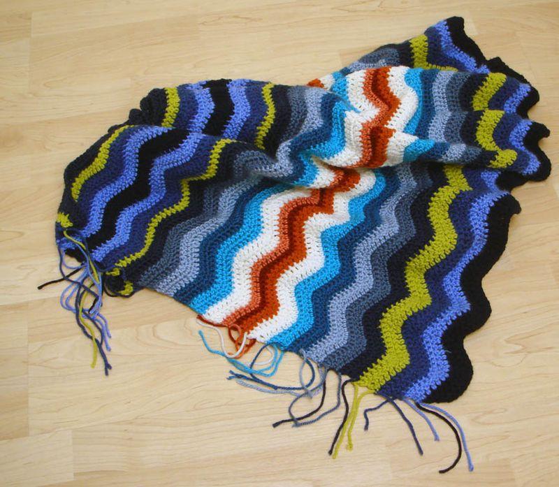 Crochet Ripple Afghan in progress