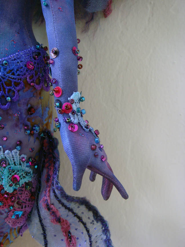Detail of finished mermaids hand