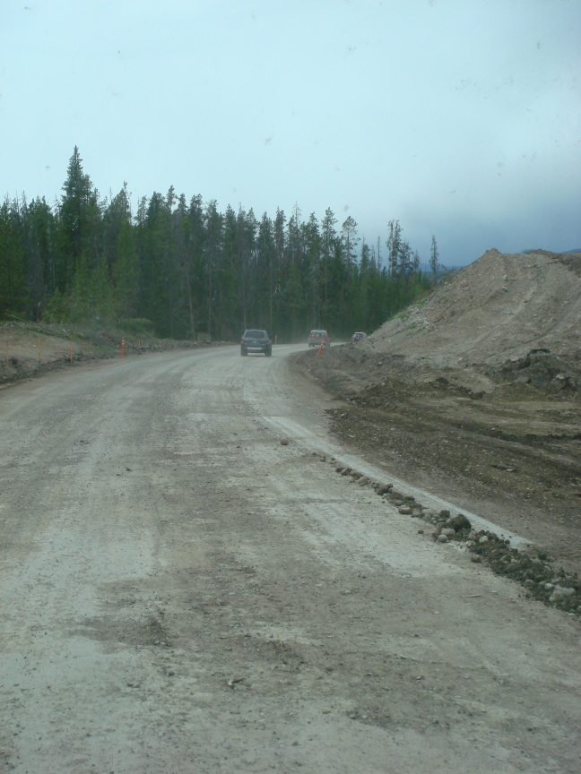 Road work in Grand Tetons