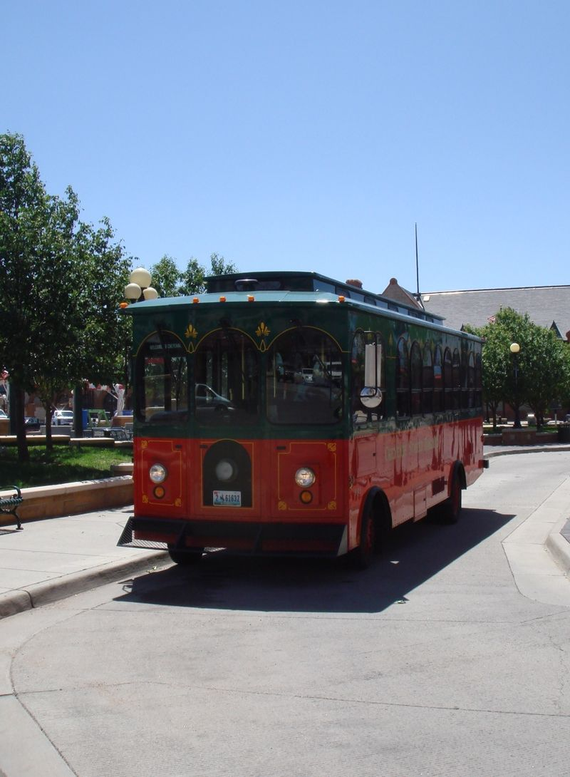 Trolley in downtown Cheyenne WY