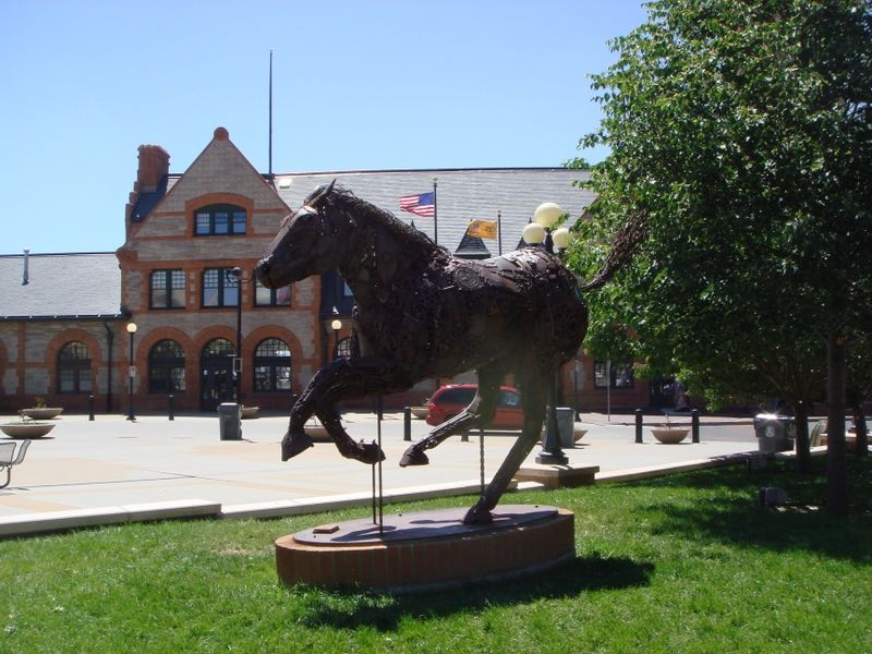 Pony Express sculpture in Cheyenne WY