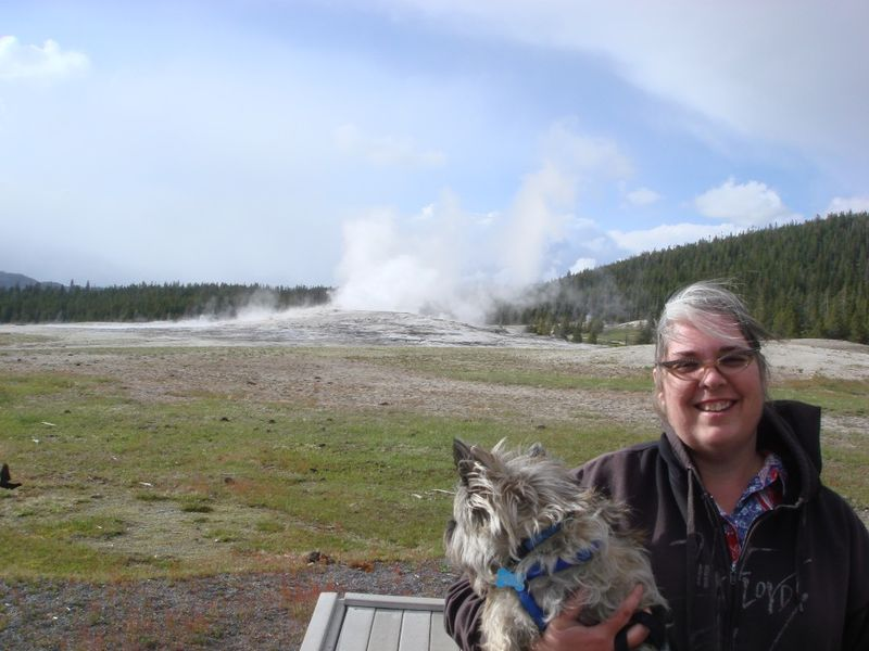Fearghus and I at Old Faithful