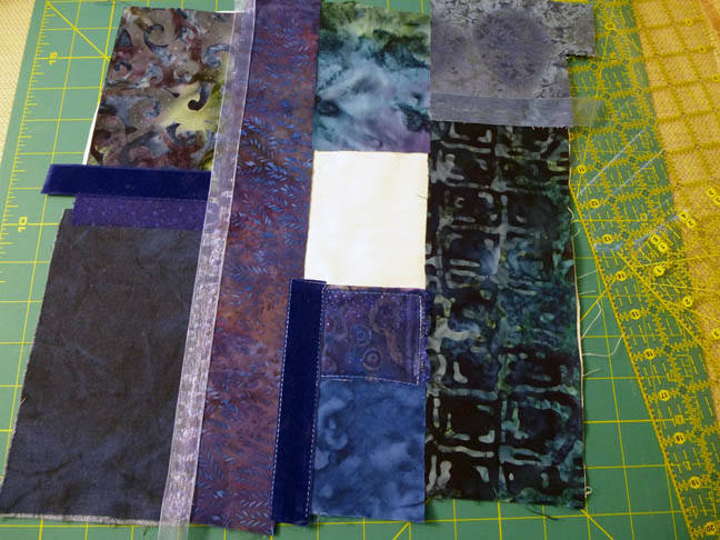 Fusing sections and adding ribbons