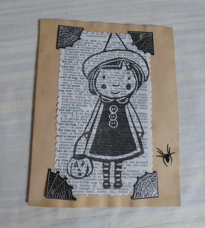 Calamity Kim Halloween card