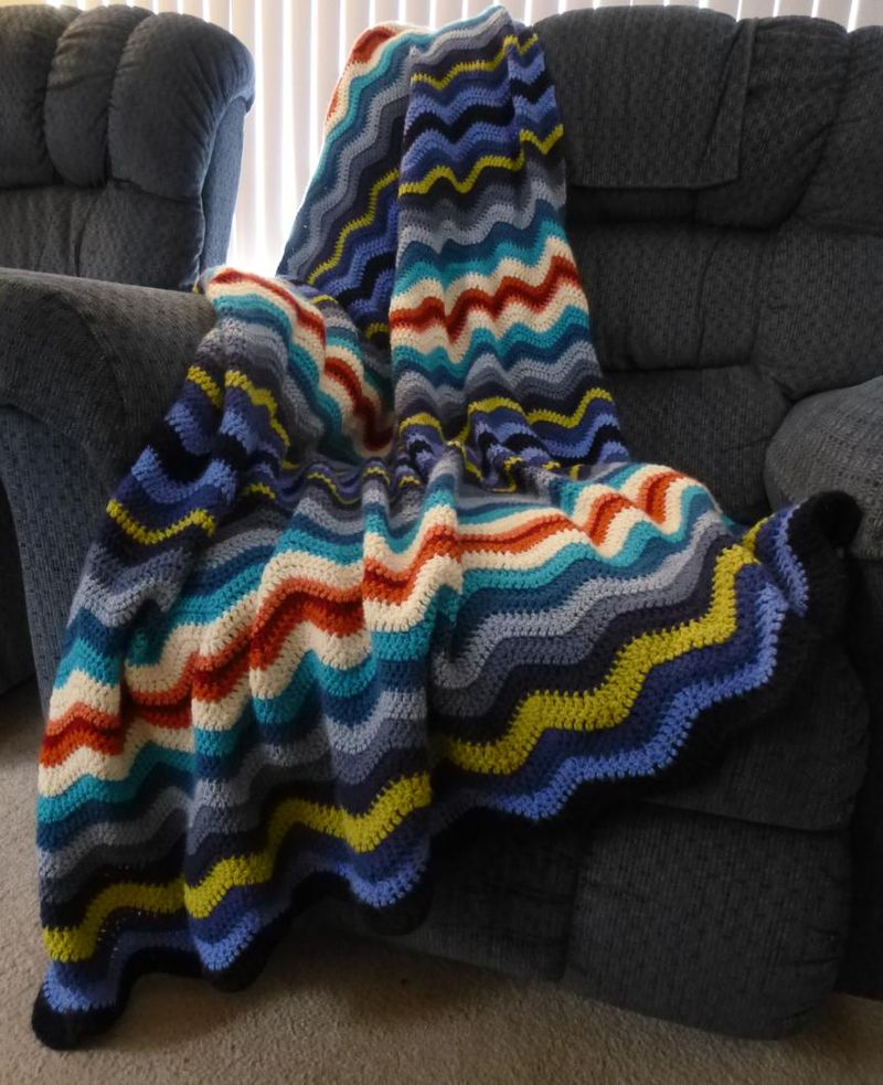 Steves crochet ripple afghan