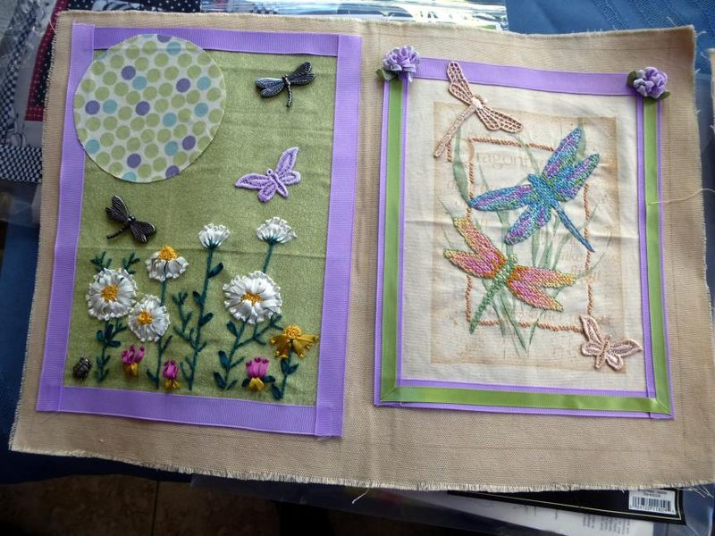 Dragonfly page by Valerie