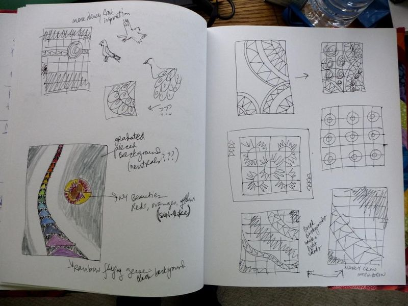 Sketches for Fab Little Quilt Swap 2013
