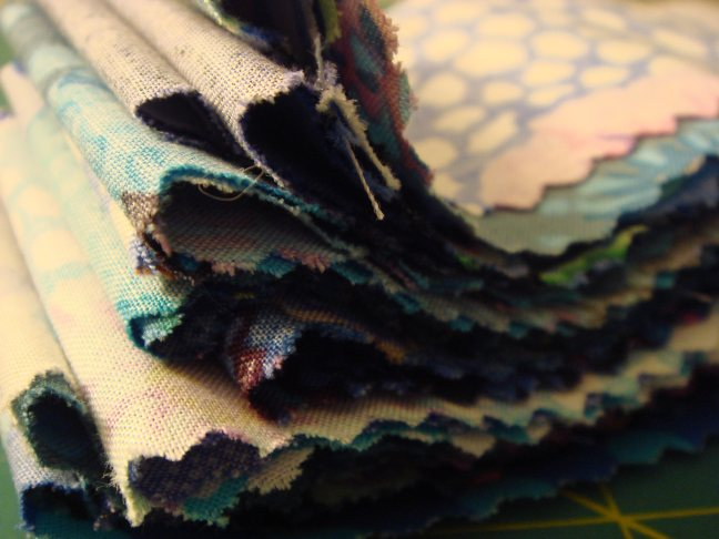 Accordian pleated jelly roll strips