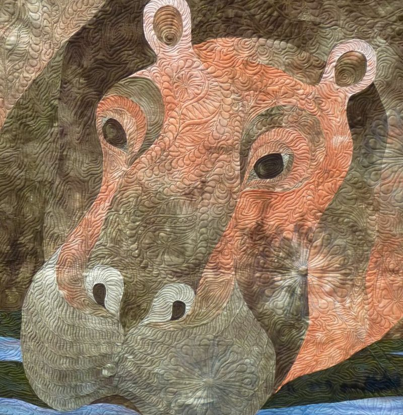 Hippo Love by Janet Fogg detail