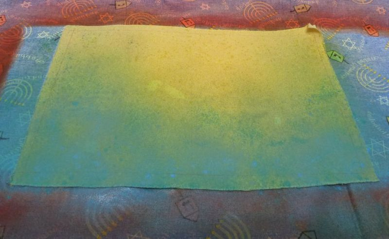 Tami page adding turquoise to green and yellow background