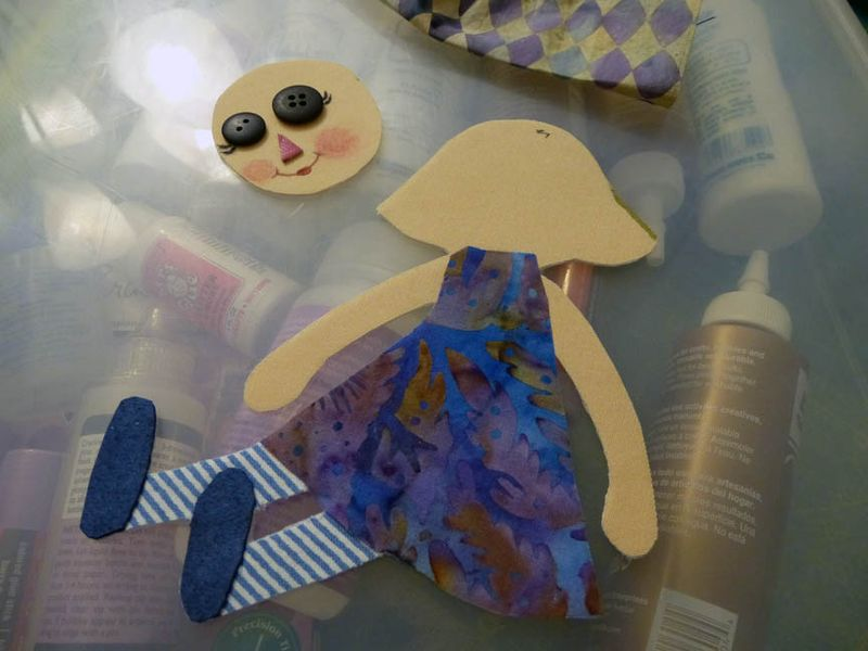 Daisy page rag doll paperdoll