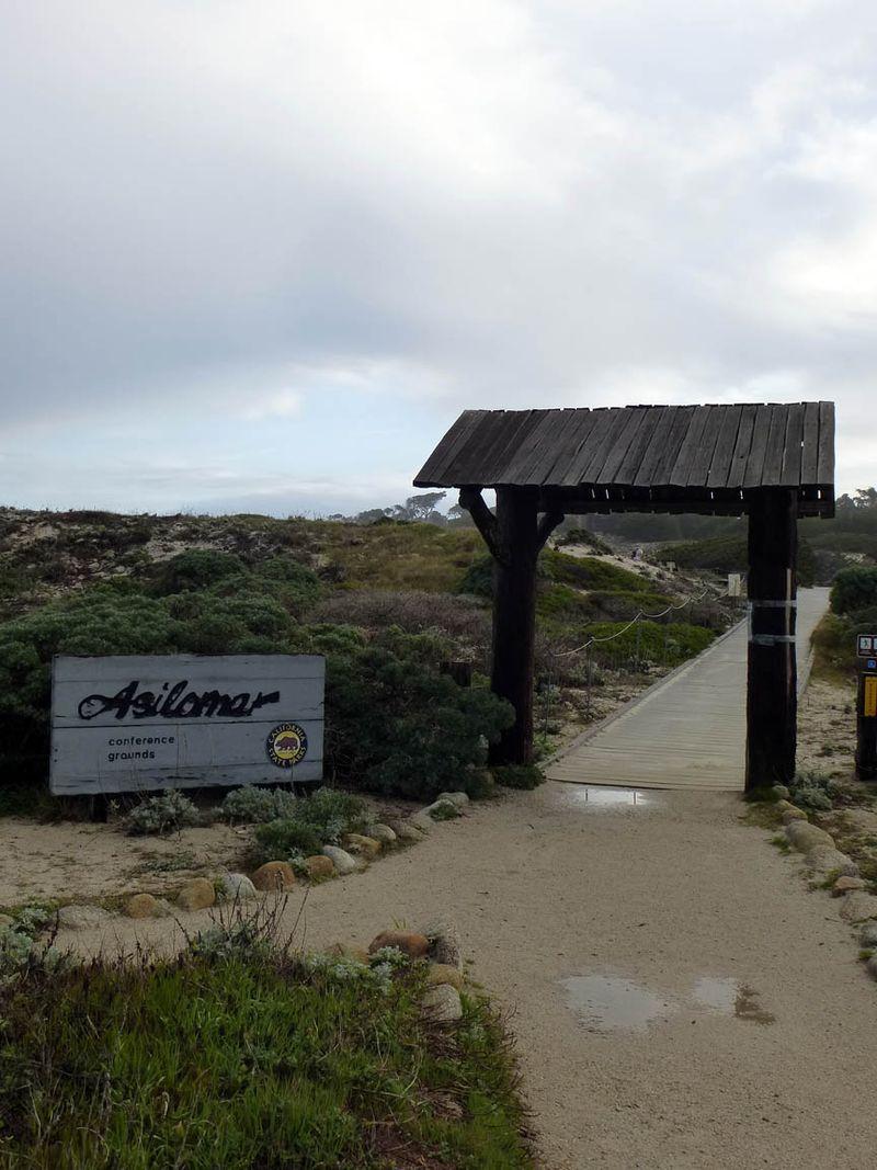 Oceanside entrance to Asilomar