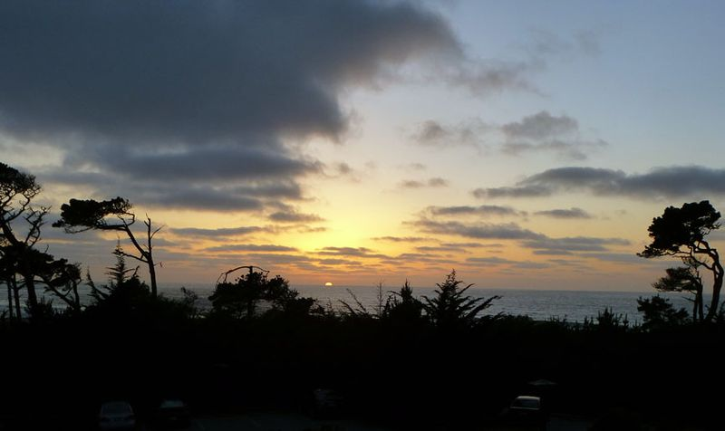 Sunset at Asilomar Pacific Grove CA