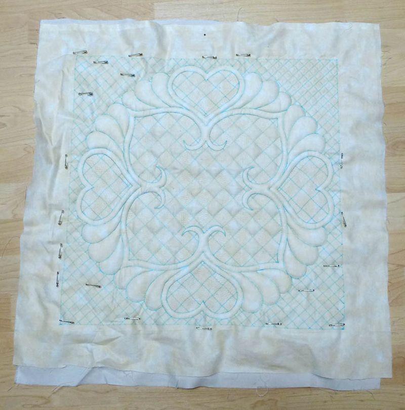 Wholecloth Trapunto quilt