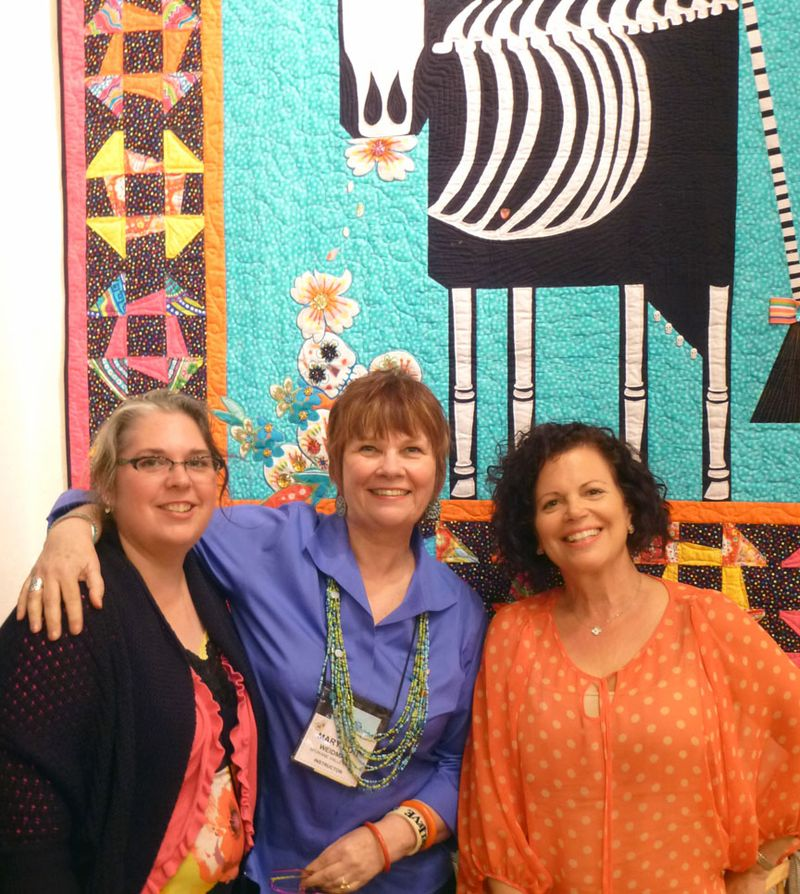 Tami and Mary Lou and Mel at Back Porch Fabrics