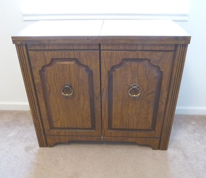 Closed Roberts Sewing Cabinet