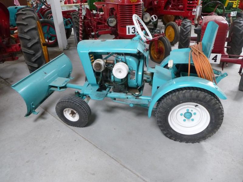 Turquoise tractor