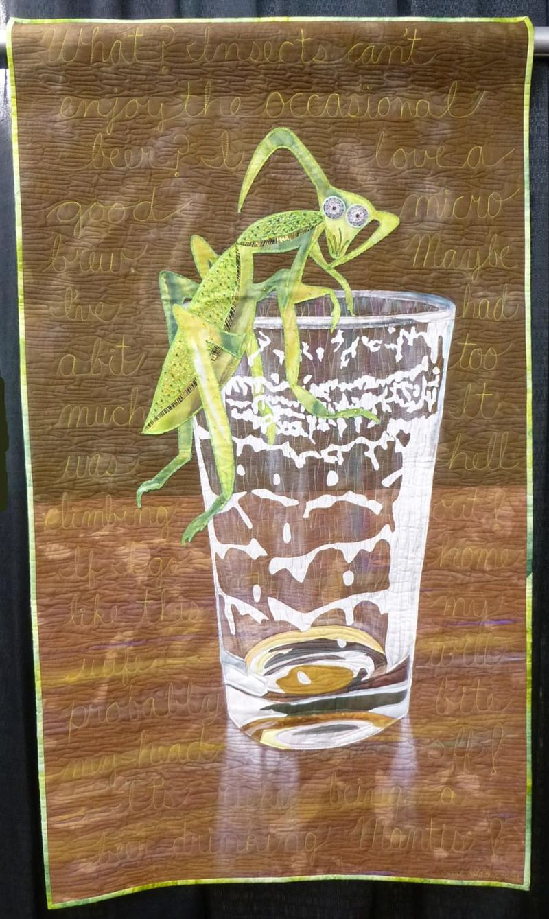 Its Risky Being a Beer Drinking Mantis by Carol L Fletcher