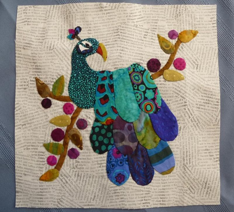 Peacock applique 2013