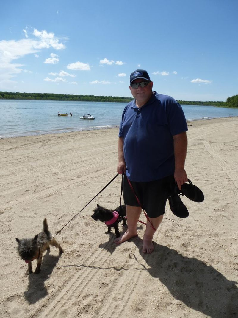 Steve Fearghus and Fiona at Lake Minatare NE